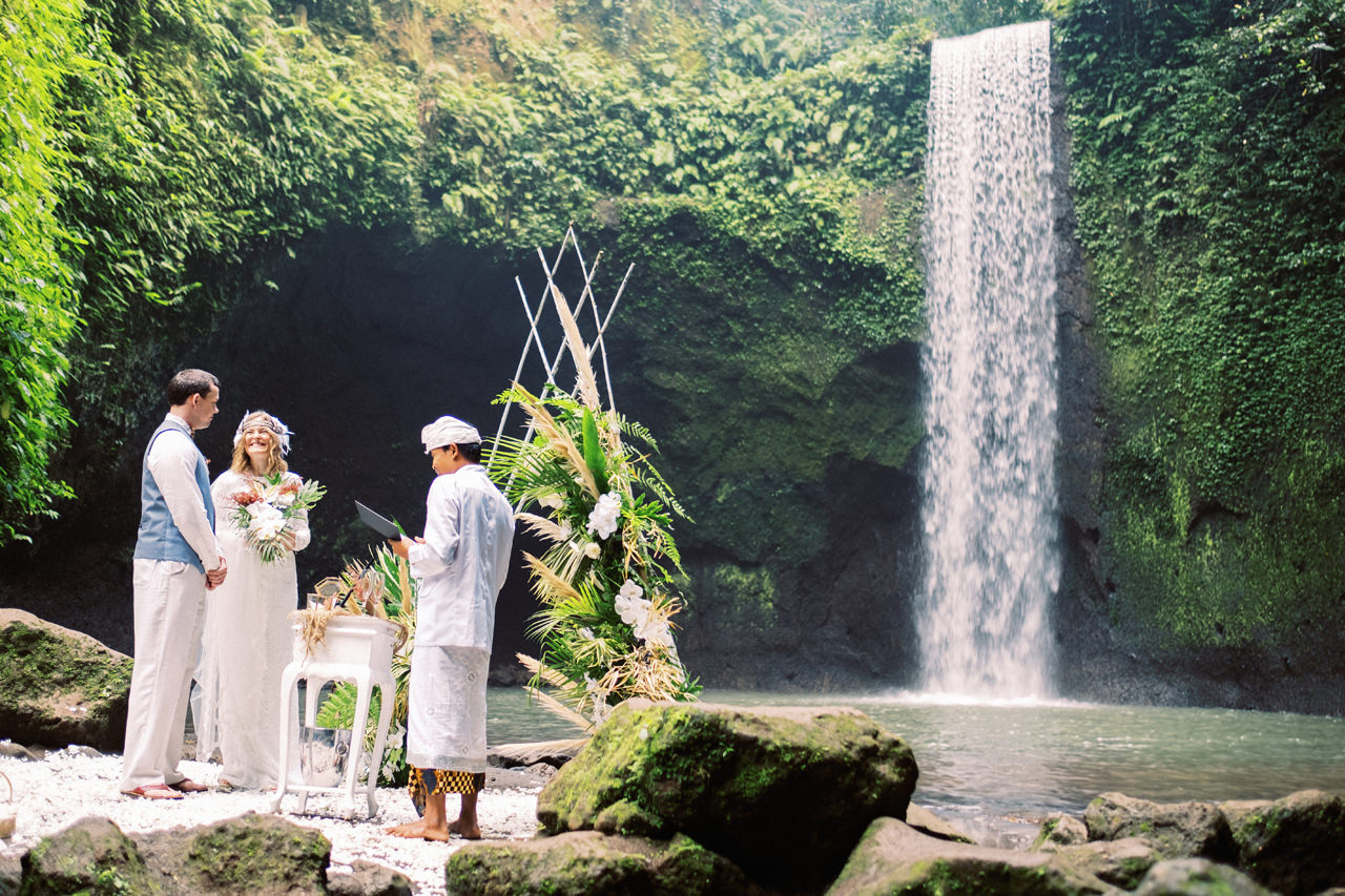 E&D: Tibumana Waterfall Bali Elopement 20