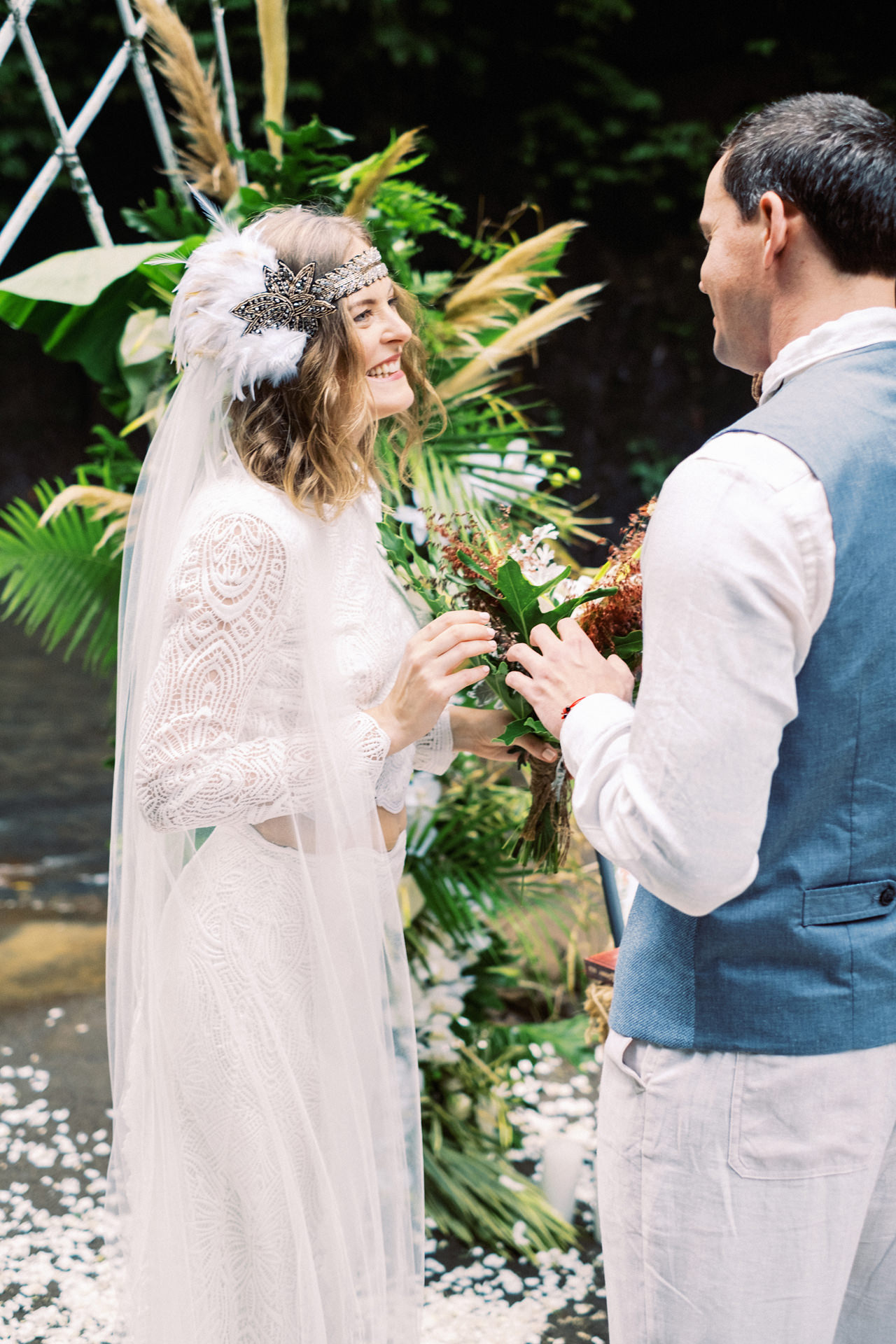 E&D: Tibumana Waterfall Bali Elopement 25