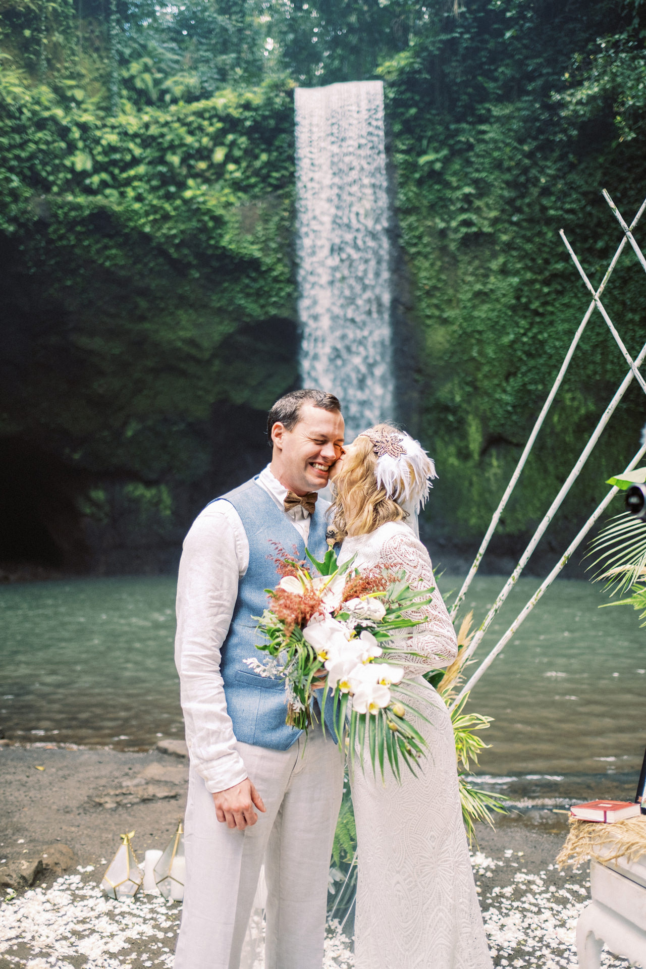 E&D: Tibumana Waterfall Bali Elopement 26