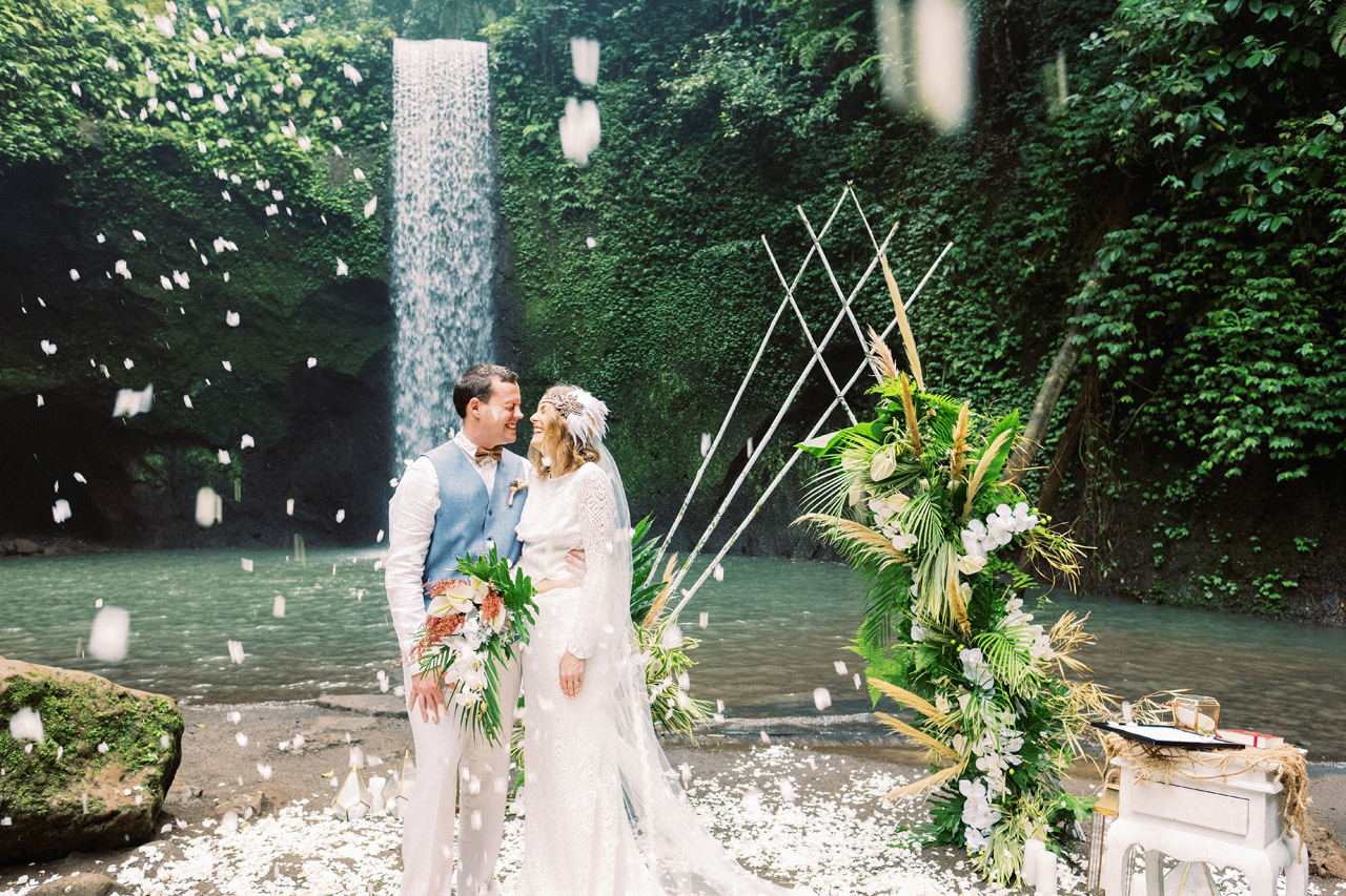 E&D: Tibumana Waterfall Bali Elopement 30