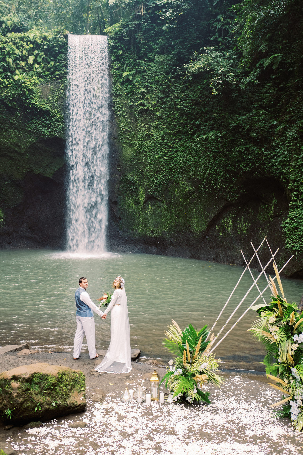 E&D: Tibumana Waterfall Bali Elopement 31
