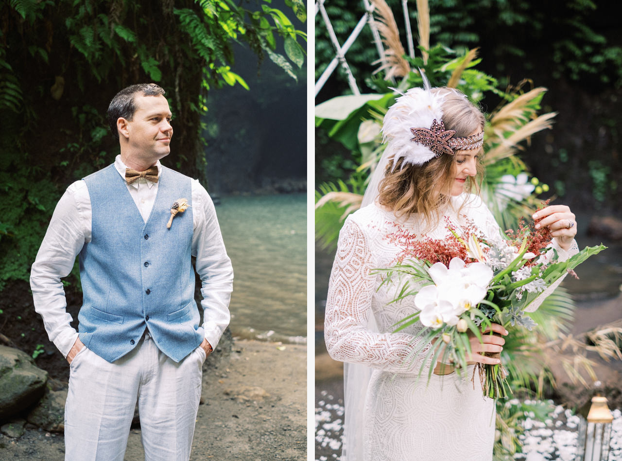 E&D: Tibumana Waterfall Bali Elopement 32