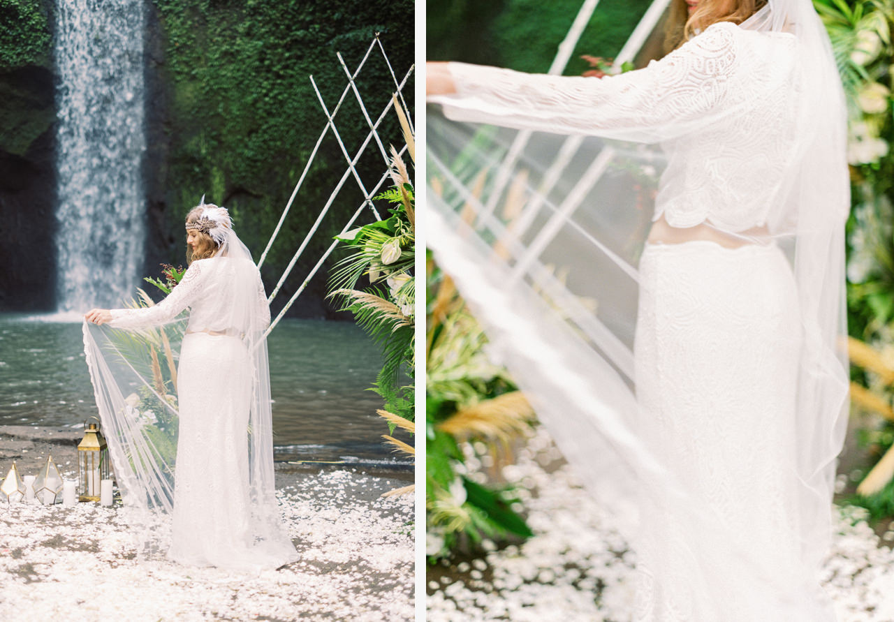 E&D: Tibumana Waterfall Bali Elopement 33