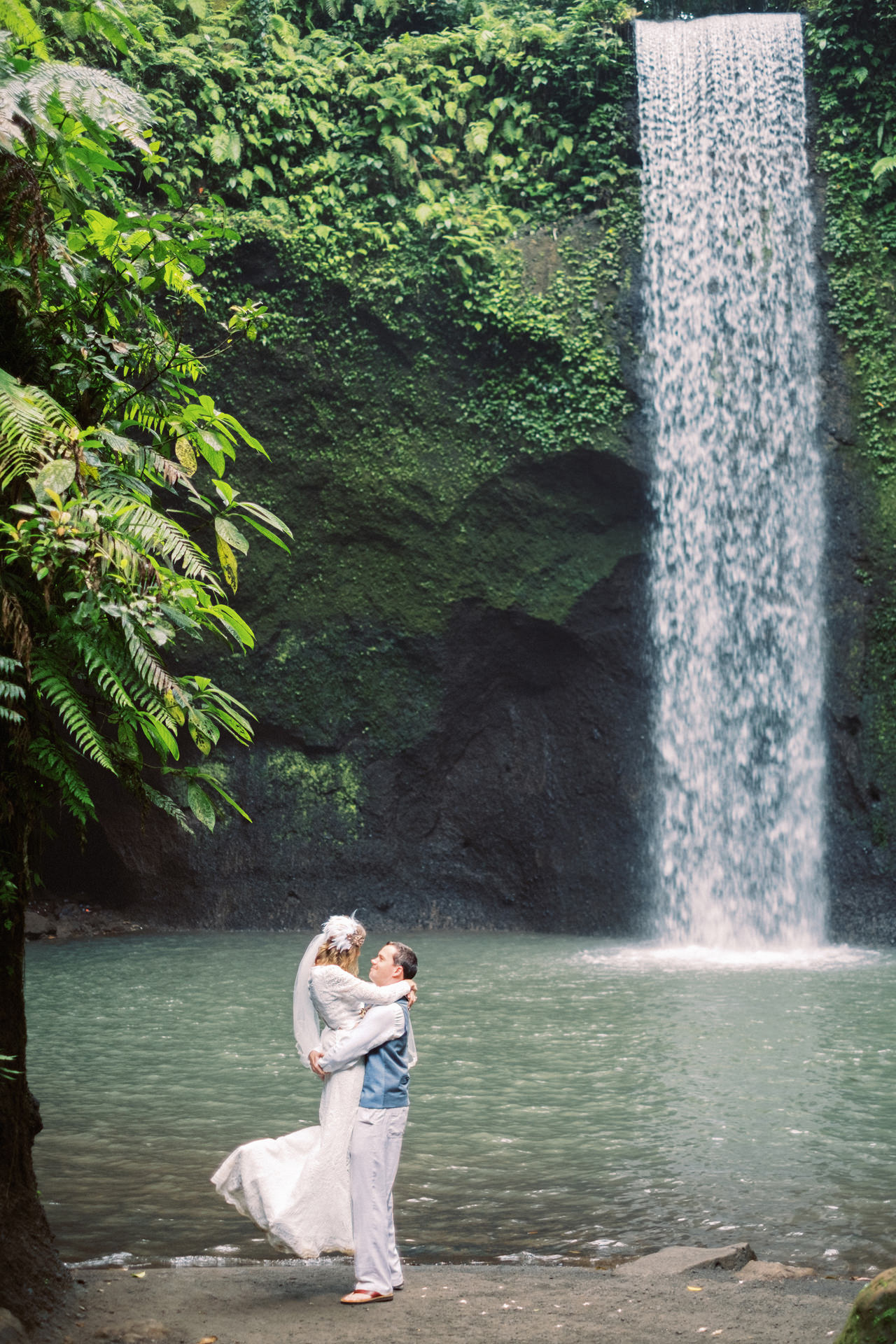 E&D: Tibumana Waterfall Bali Elopement 34