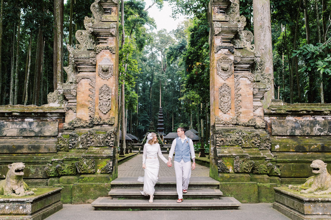 E&D: Tibumana Waterfall Bali Elopement 41