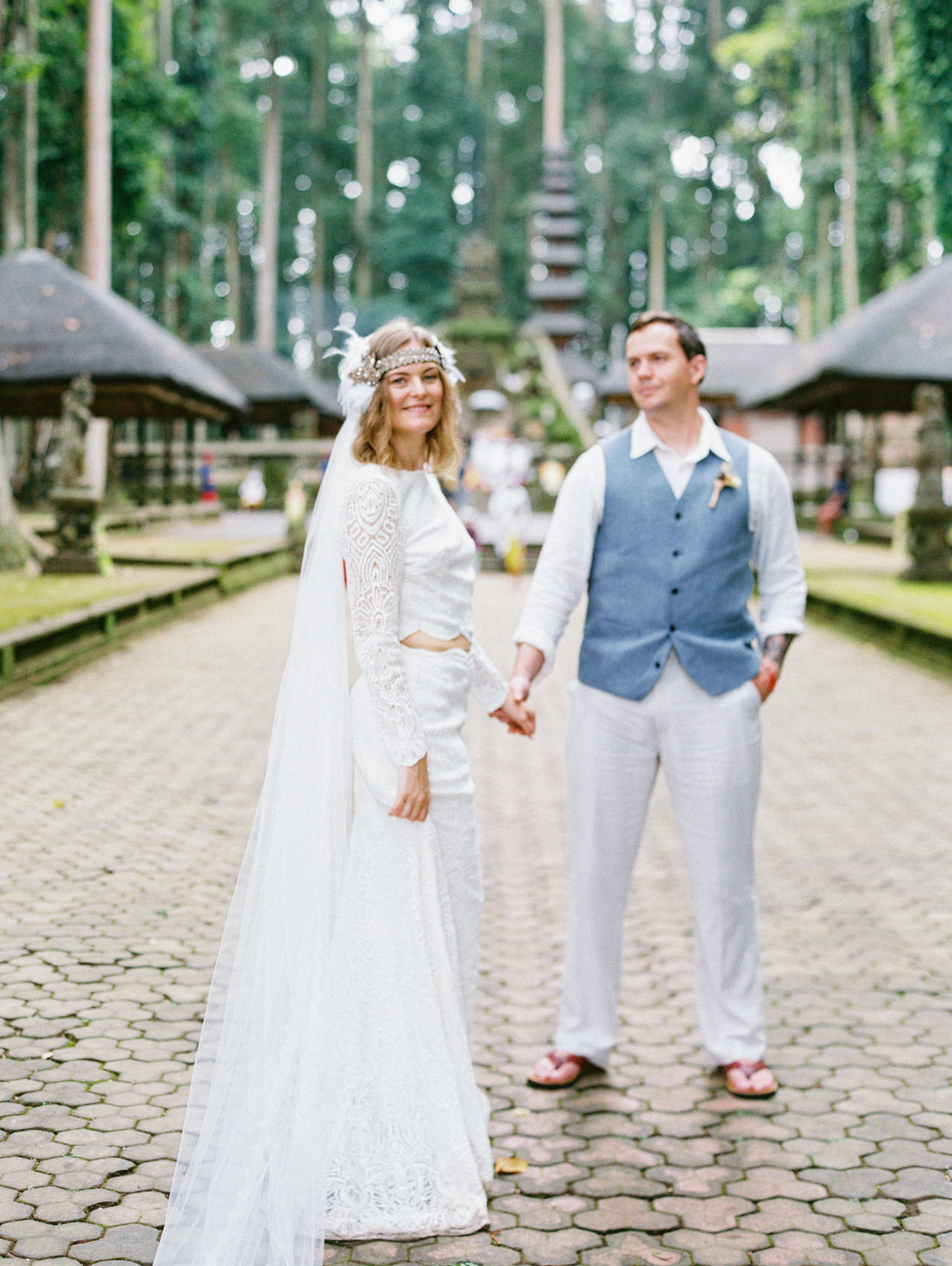 E&D: Tibumana Waterfall Bali Elopement 43