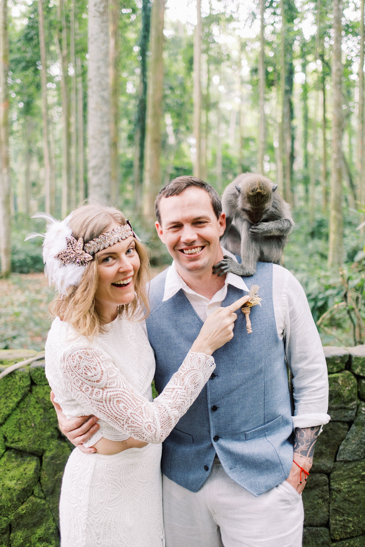 E&D: Tibumana Waterfall Bali Elopement 47