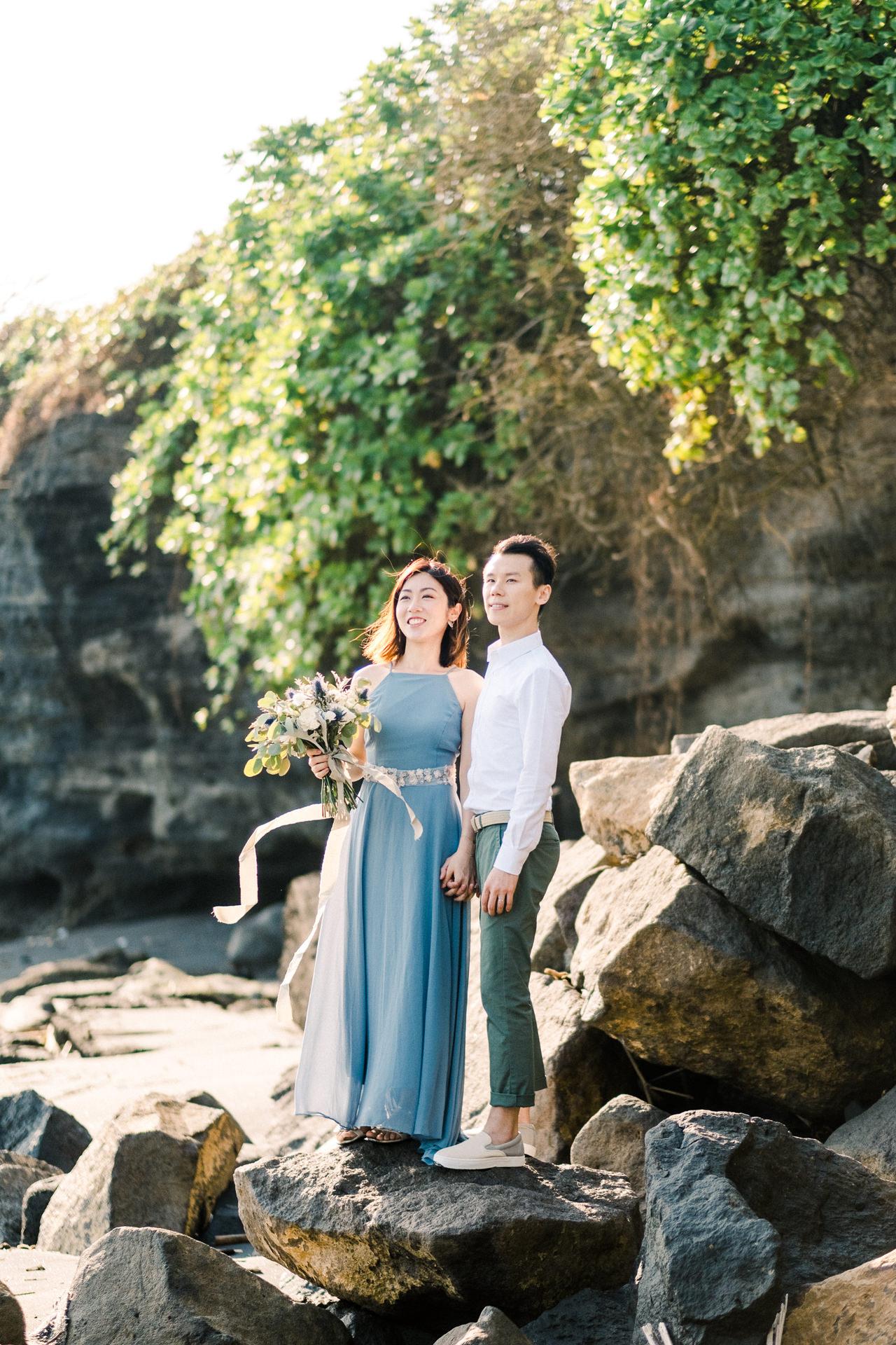 E&P: Sunset in Canggu Bali Engagement Photography 1