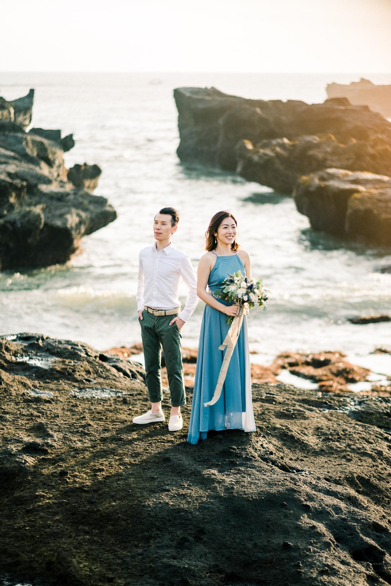 E&P: Sunset in Canggu Bali Engagement Photography 11