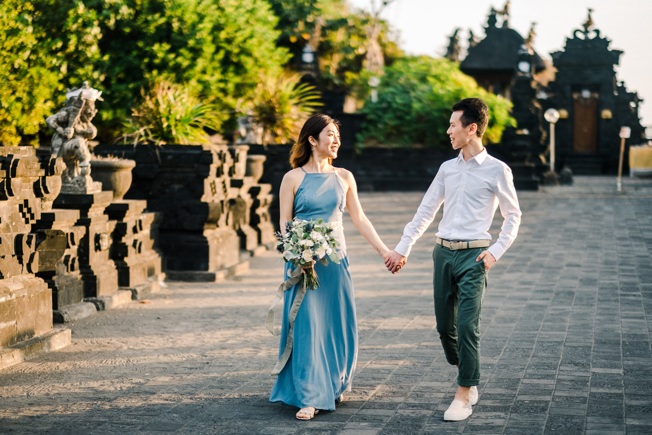 E&P: Sunset in Canggu Bali Engagement Photography 13