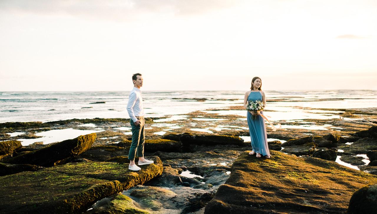 E&P: Sunset in Canggu Bali Engagement Photography 16