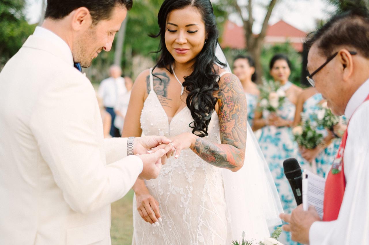 E&T: Beachside Multicultural Bali Wedding Photography 32