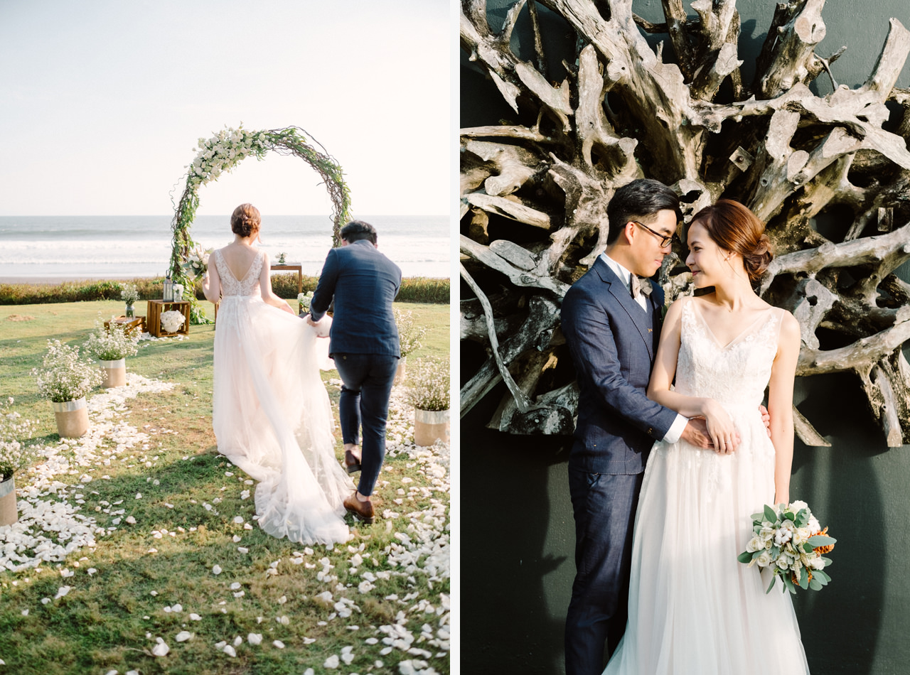 E&W: Oceanside Elopement Photography at Soori Bali 12