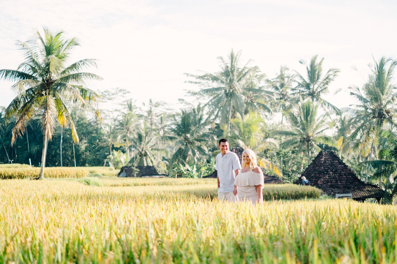 F&T: White on Green Dreamy Rice Fields Engagement Photos 6