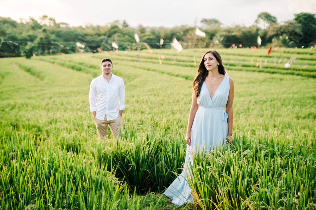 L&G: Bali Vacation Photography With Rice Fields and Beach Background 2