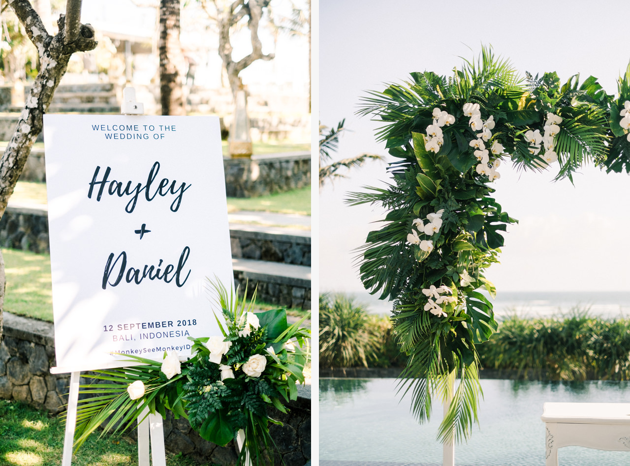 Tropical Wedding Arch Decoration Bali