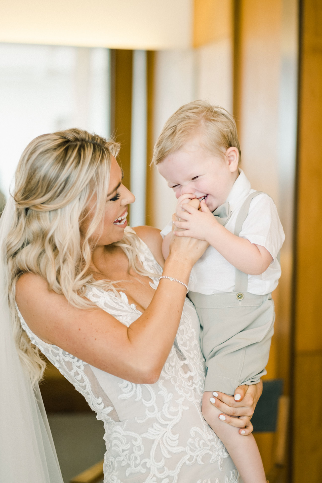 Brides With Son On The Wedding