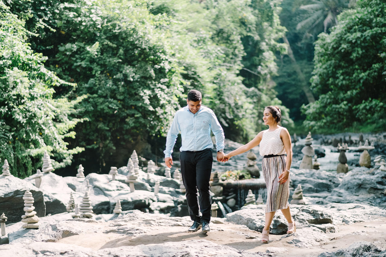 Harish & Neha: Bali Proposal Photography at Tegenungan Waterfall 2