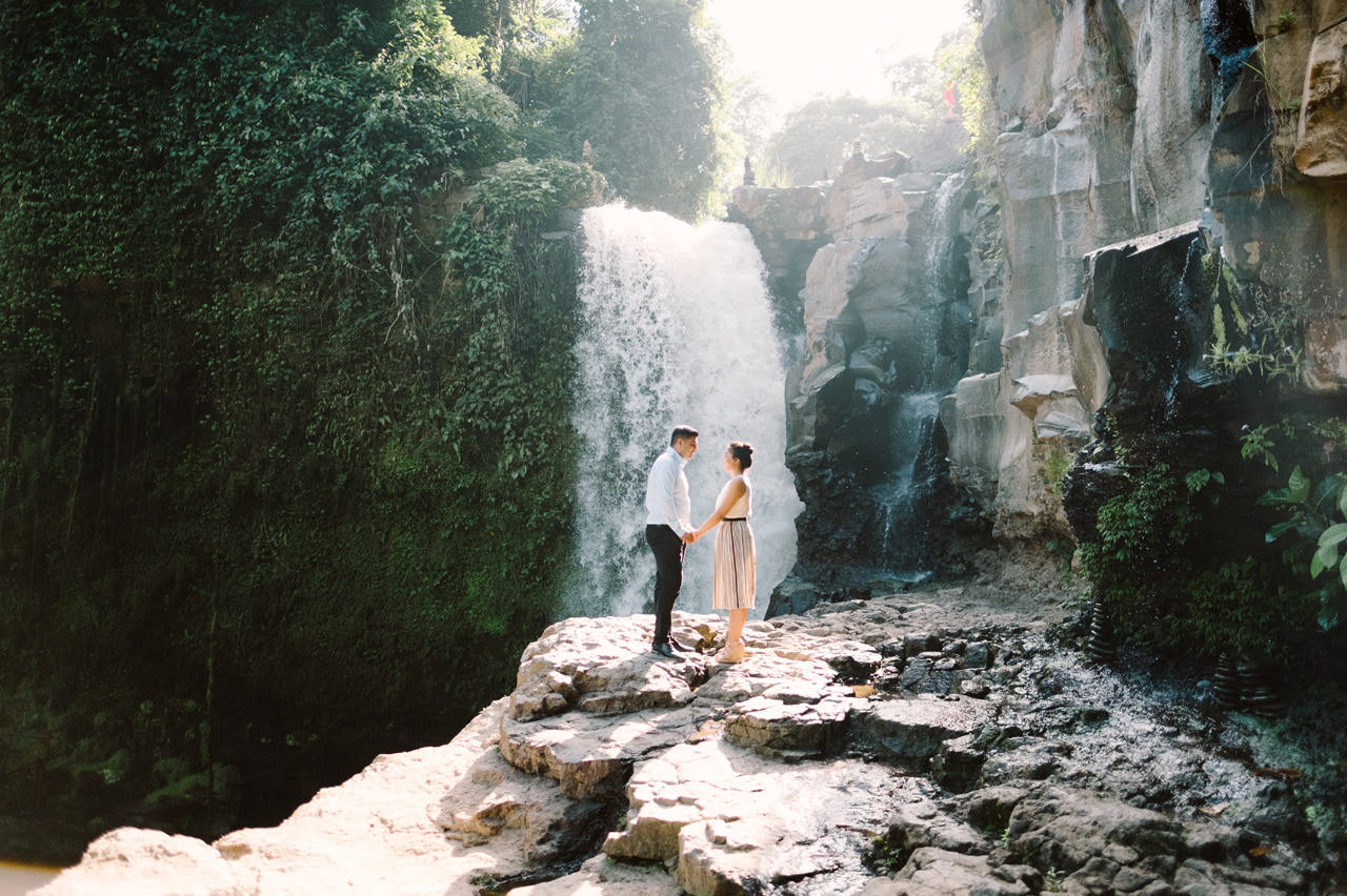 Harish & Neha: Bali Proposal Photography at Tegenungan Waterfall 3