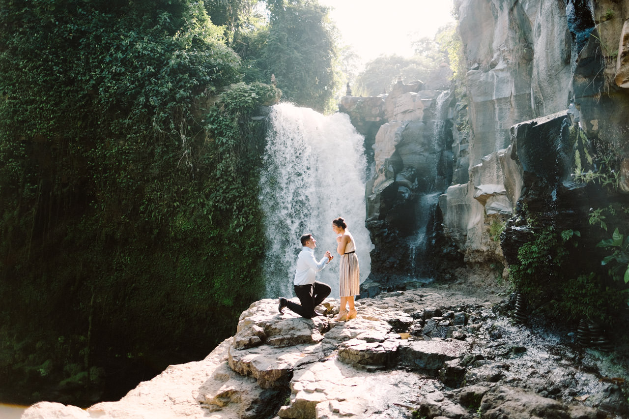 Harish & Neha: Bali Proposal Photography at Tegenungan Waterfall 4