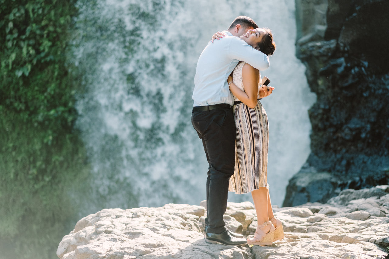 Harish & Neha: Bali Proposal Photography at Tegenungan Waterfall 6