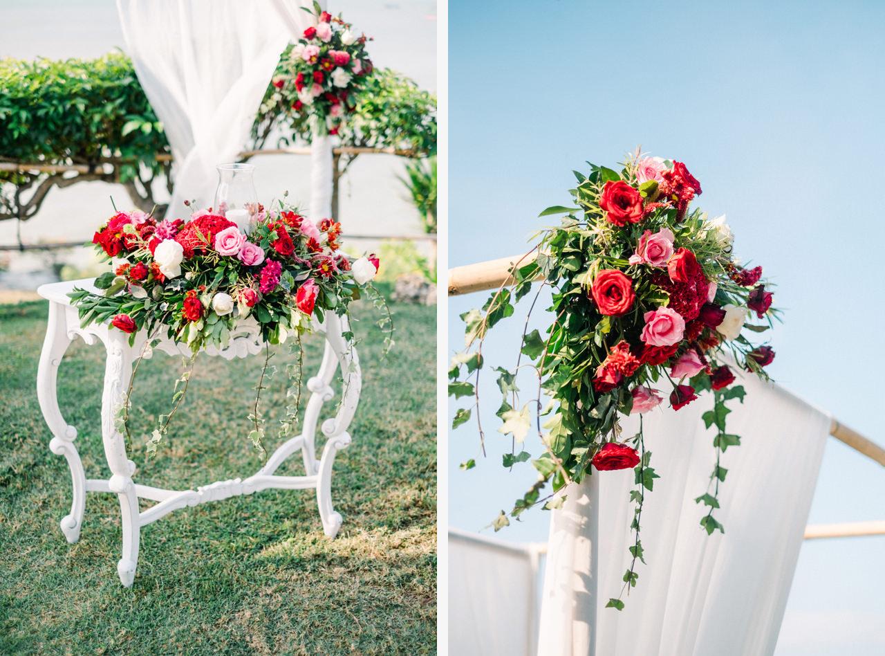 Bali Wedding Bright Vibrant Decoration