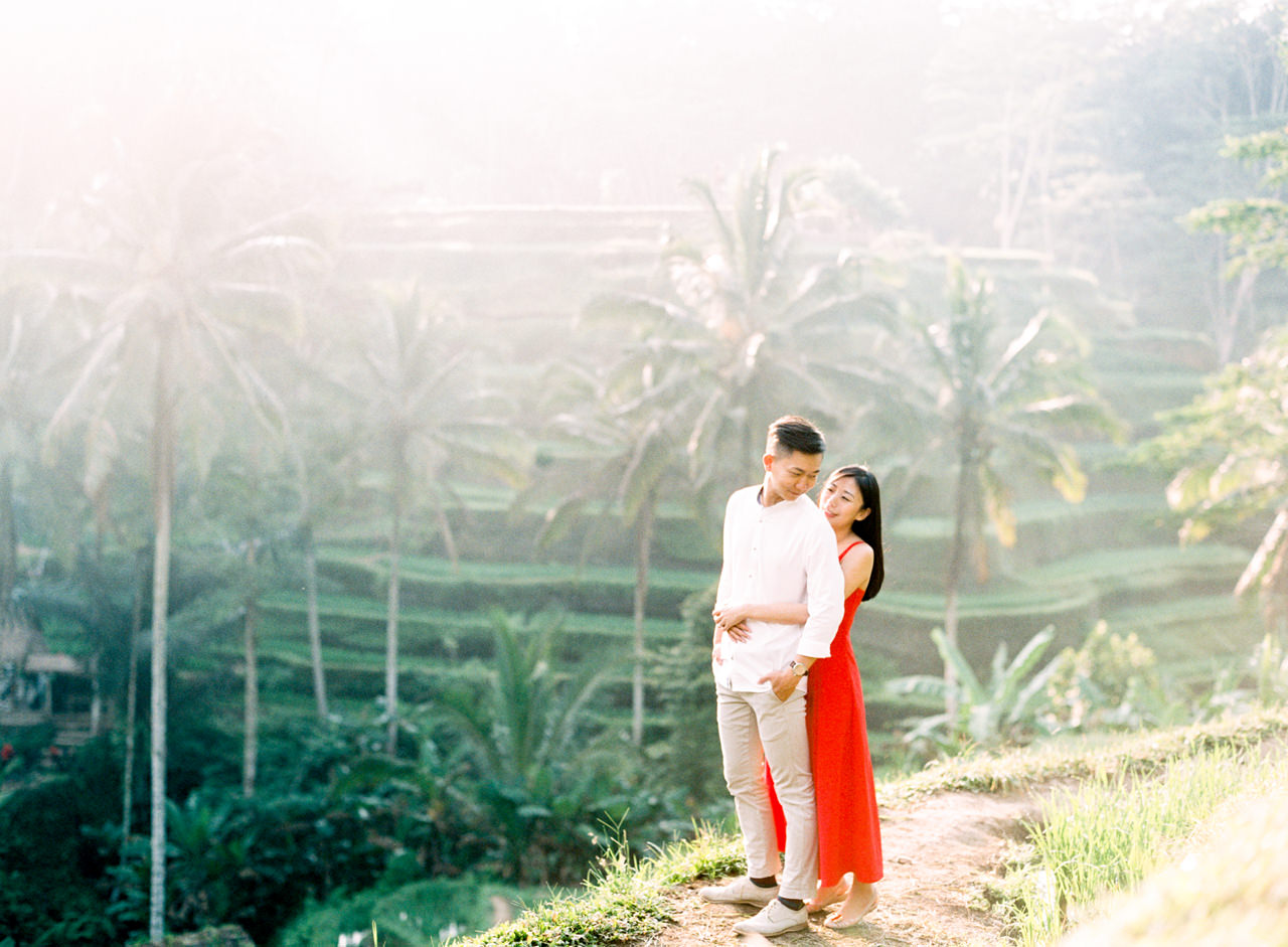 J&J: Fine Art Tegalalang Rice Terraces Engagement 5