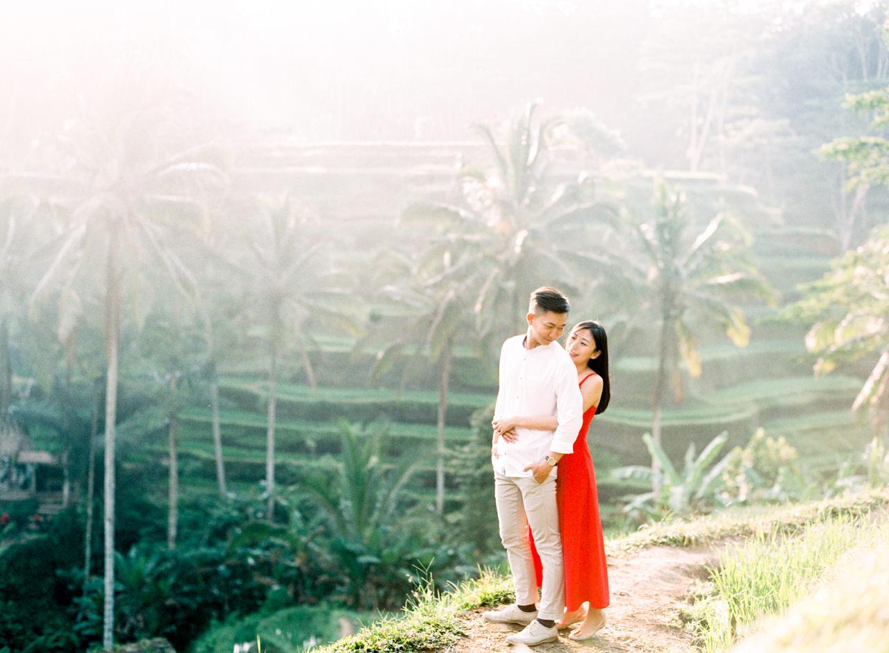 J&J: Fine Art Tegalalang Rice Terraces Engagement 5