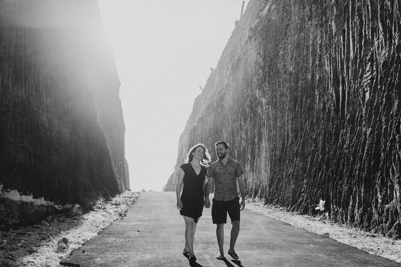 Kim & Dimitri's beach sunset Bali engagement photo session 3