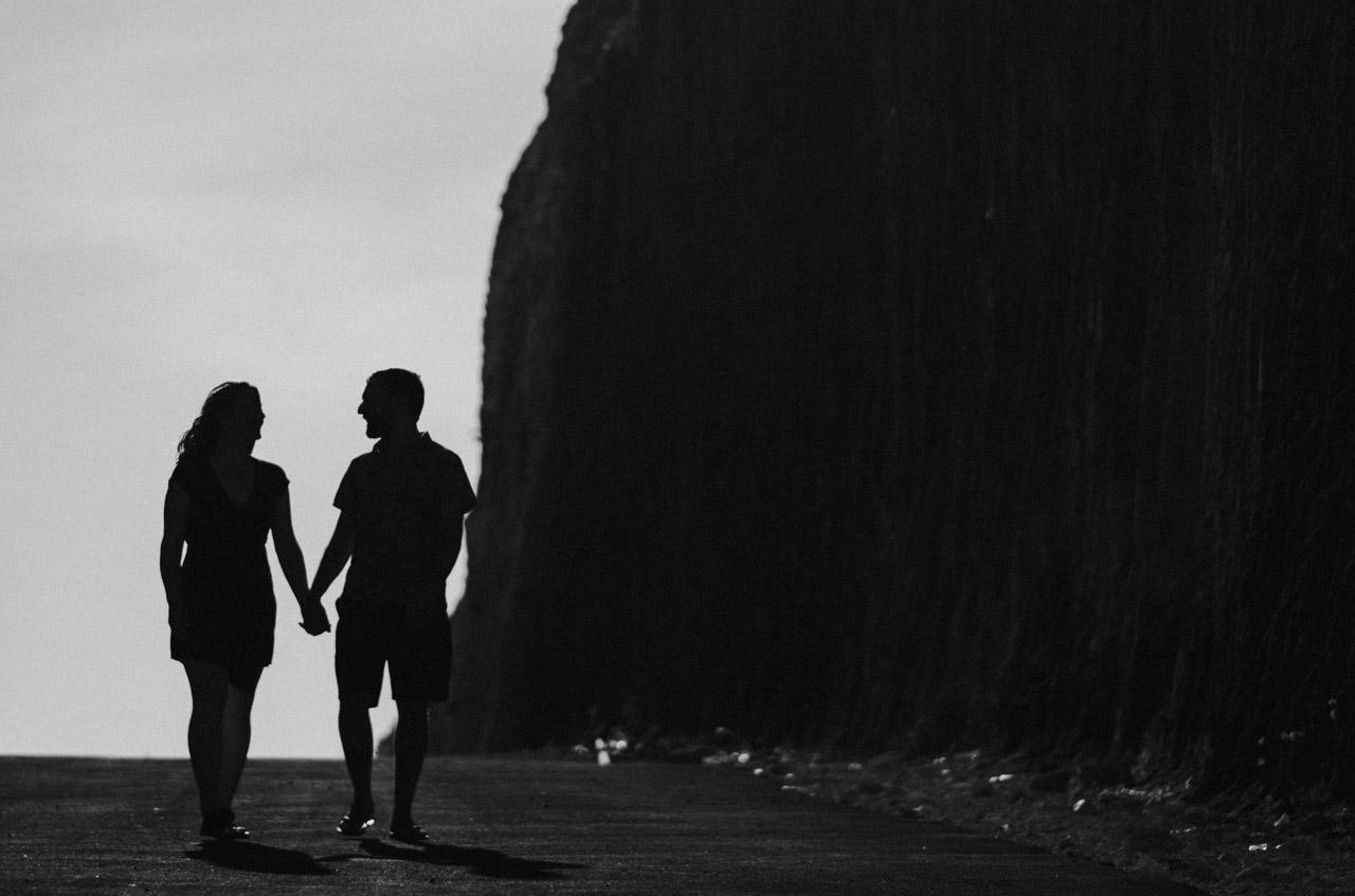 Kim & Dimitri's beach sunset Bali engagement photo session 5