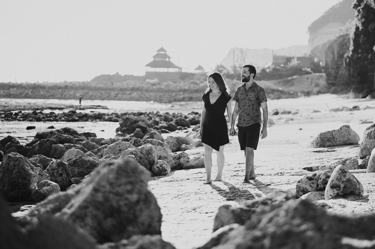 Kim & Dimitri's beach sunset Bali engagement photo session 10