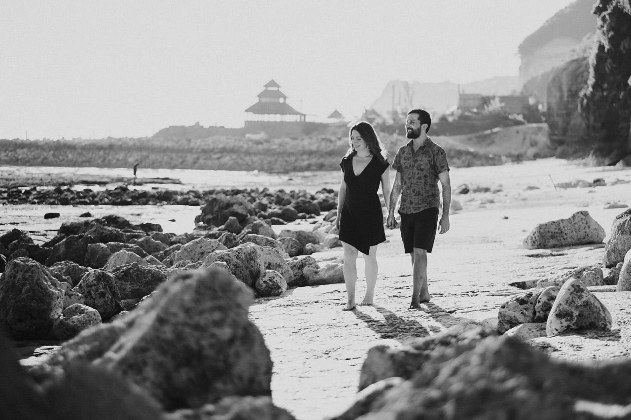 Kim & Dimitri's beach sunset Bali engagement photo session 10