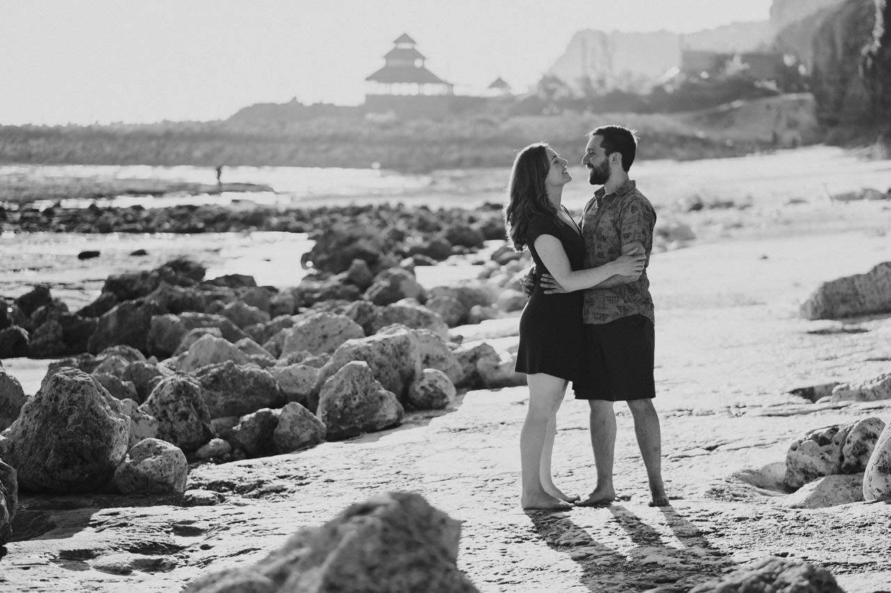 Kim & Dimitri's beach sunset Bali engagement photo session 11