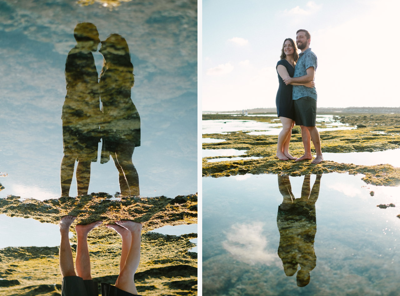 Kim & Dimitri's beach sunset Bali engagement photo session 15