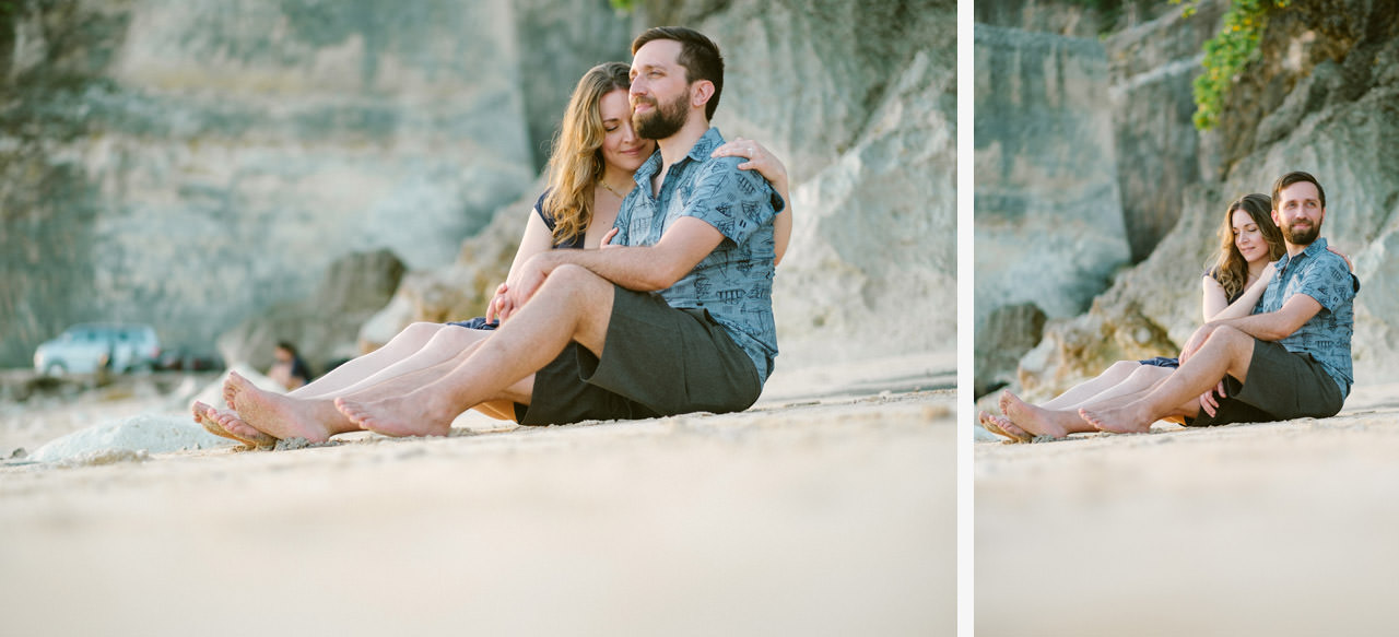 Kim & Dimitri's beach sunset Bali engagement photo session 28