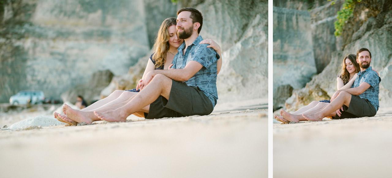 Kim & Dimitri's beach sunset Bali engagement photo session 28