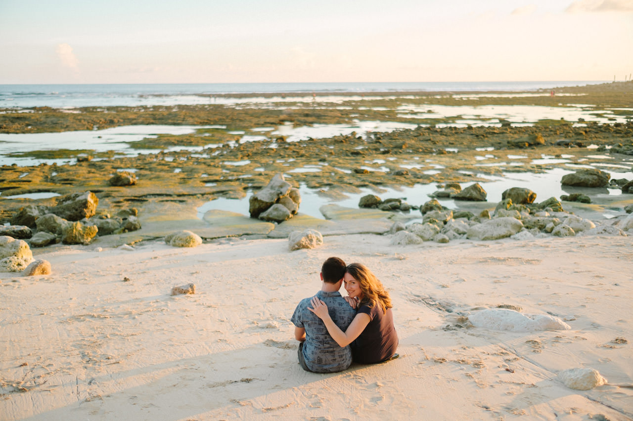 Kim & Dimitri's beach sunset Bali engagement photo session 30