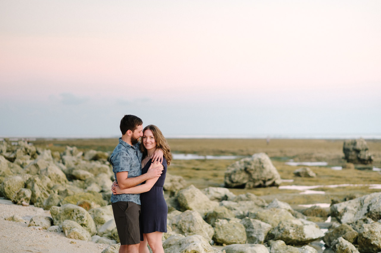 Kim & Dimitri's beach sunset Bali engagement photo session 34