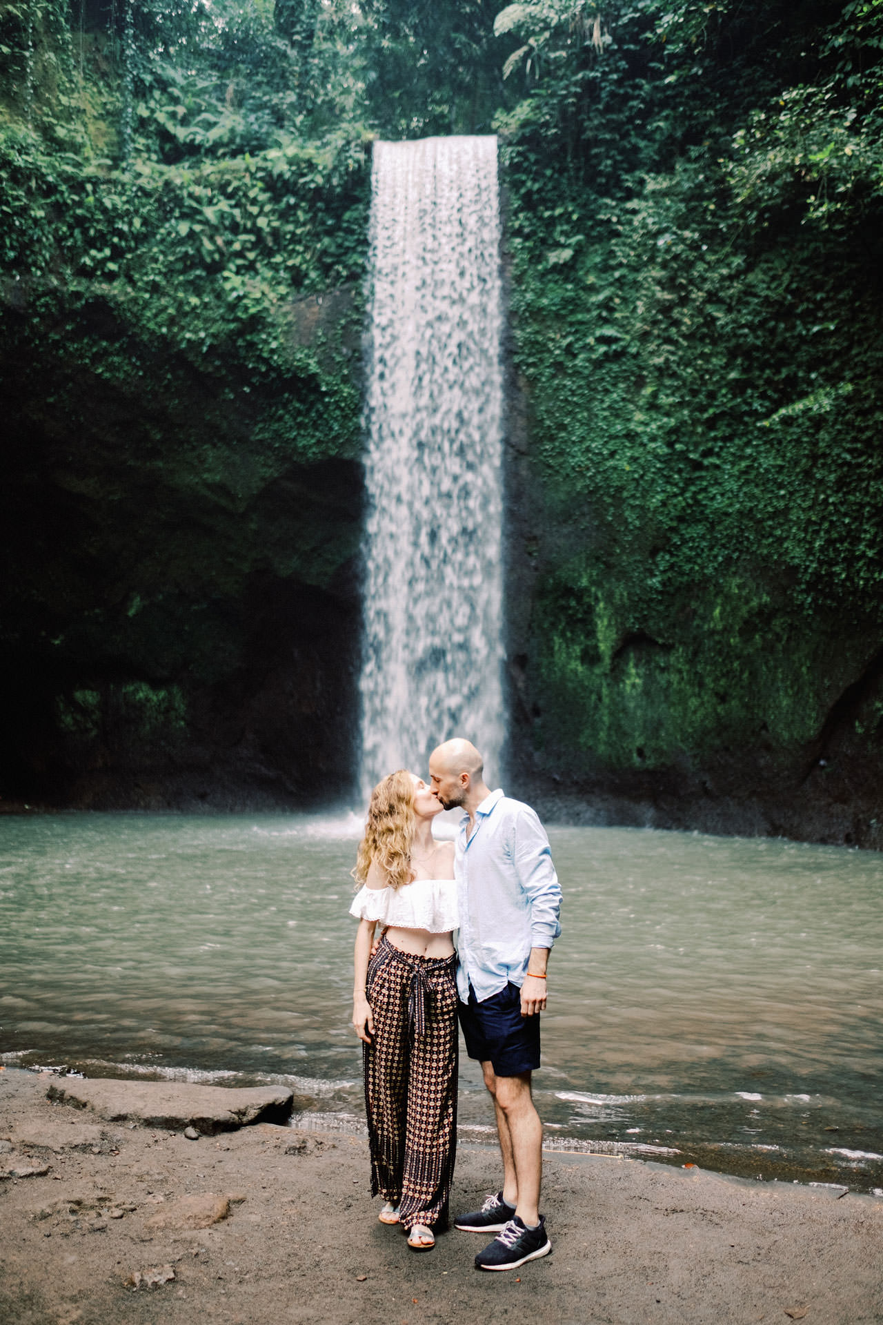 K&M: Tibumana Waterfall Bali Surprise Proposal Photography 1