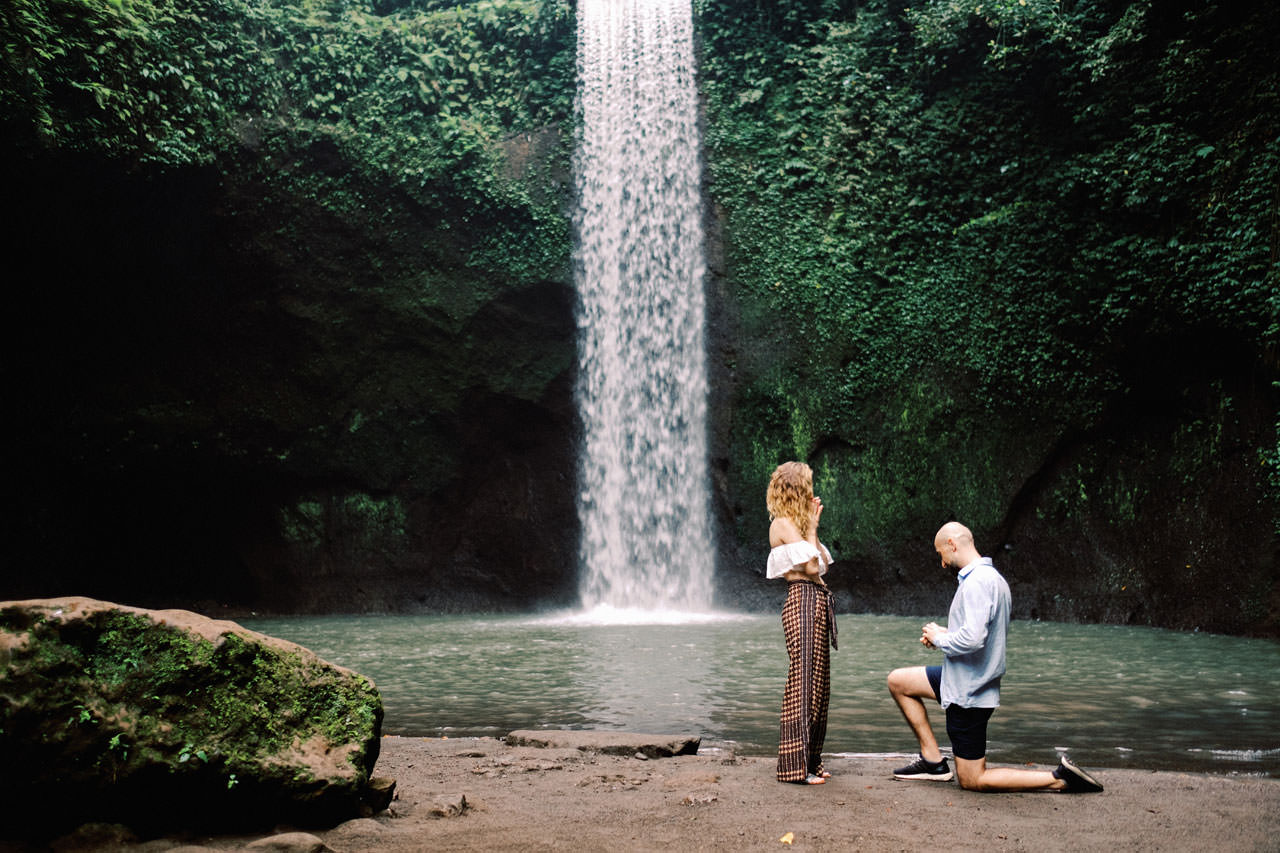 K&M: Tibumana Waterfall Bali Surprise Proposal Photography 2
