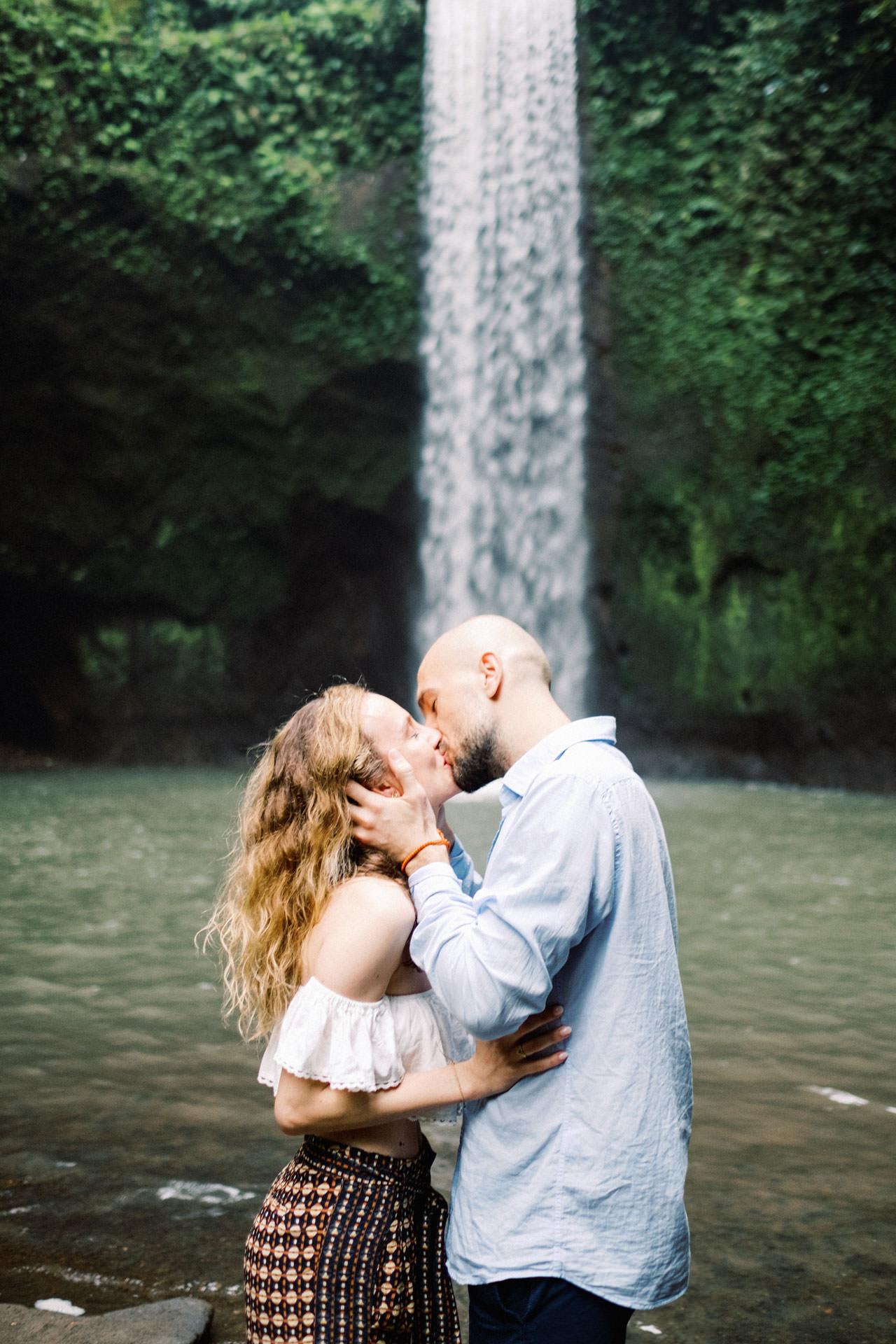 K&M: Tibumana Waterfall Bali Surprise Proposal Photography 3