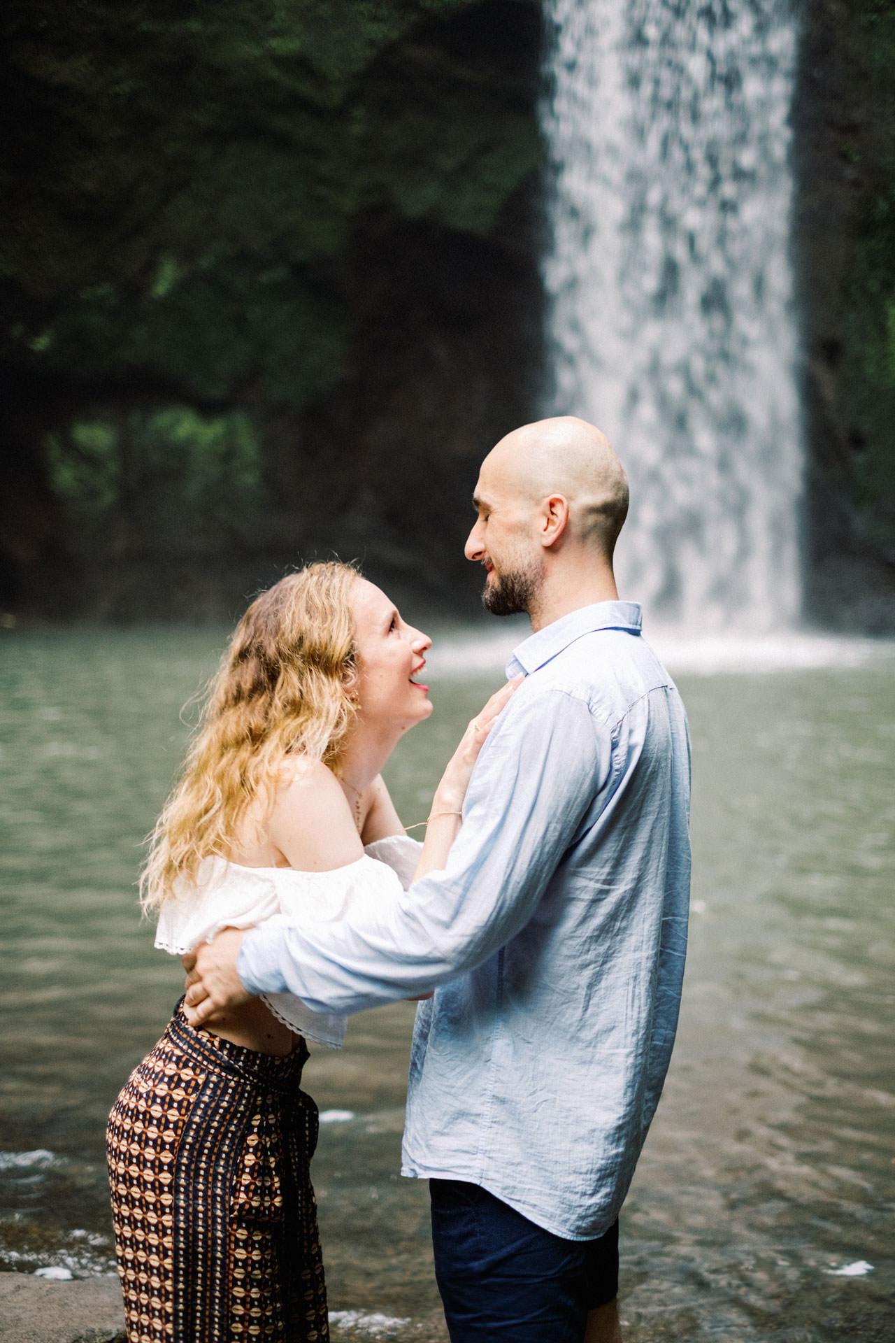 K&M: Tibumana Waterfall Bali Surprise Proposal Photography 4