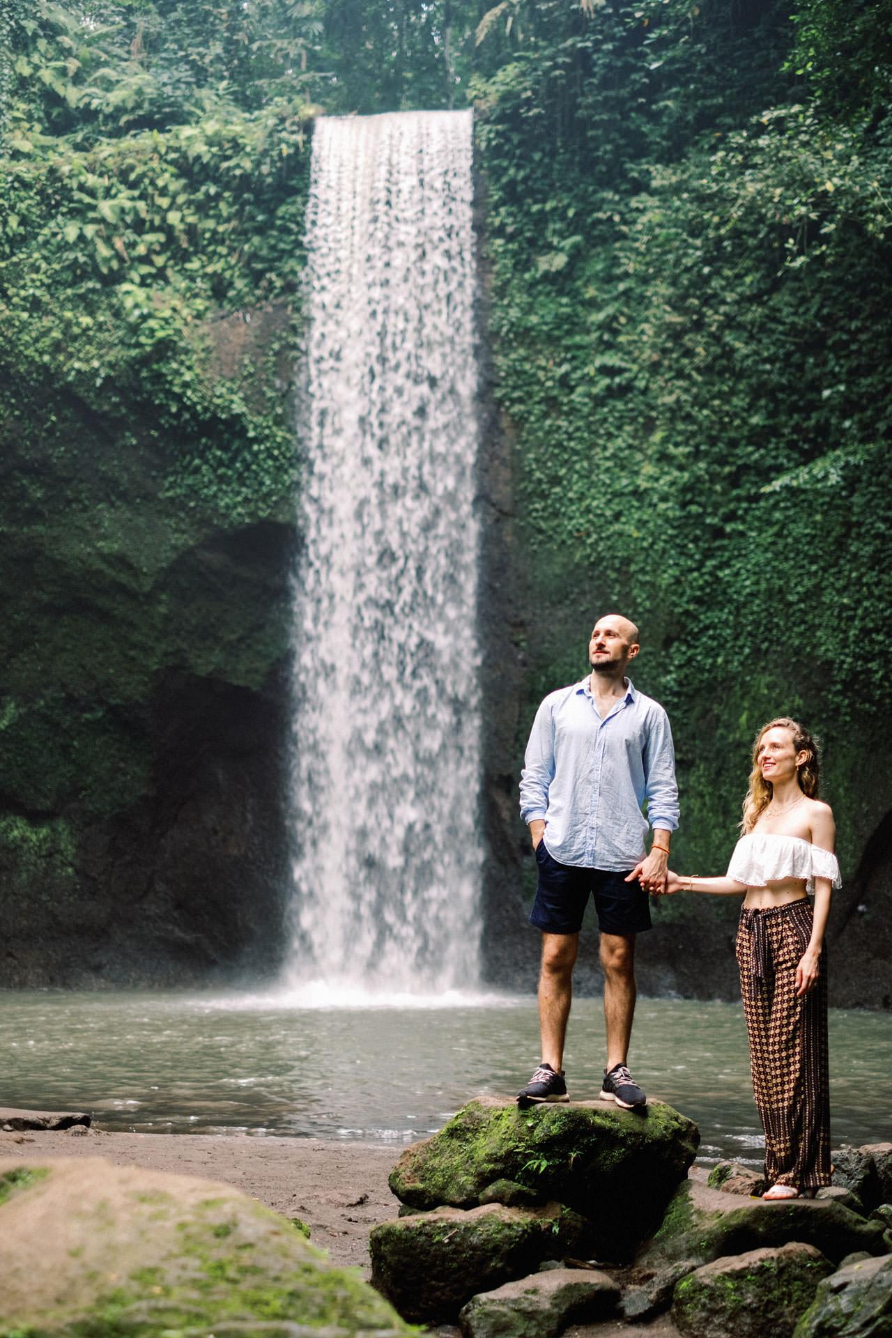K&M: Tibumana Waterfall Bali Surprise Proposal Photography 5