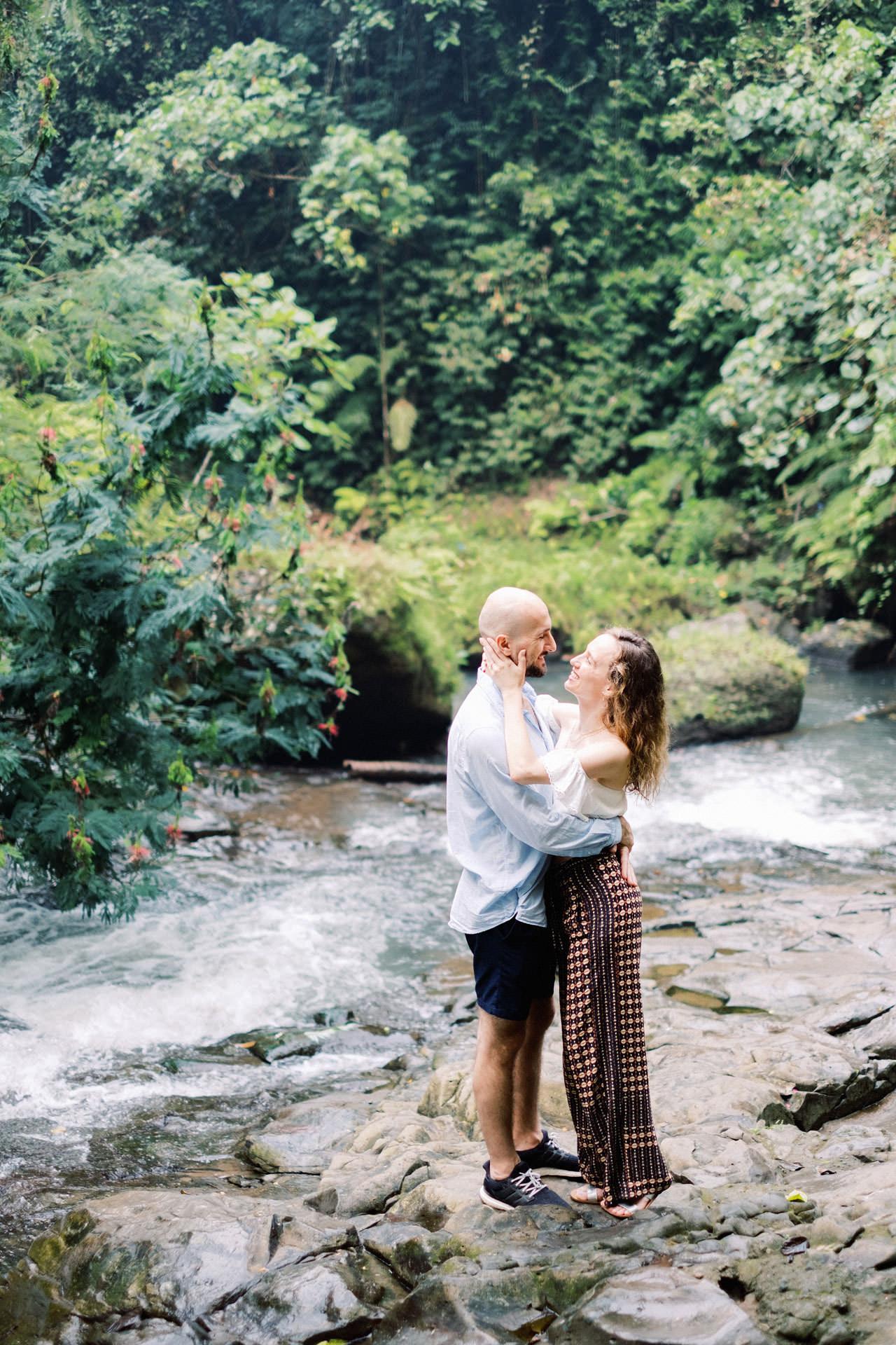 K&M: Tibumana Waterfall Bali Surprise Proposal Photography 8