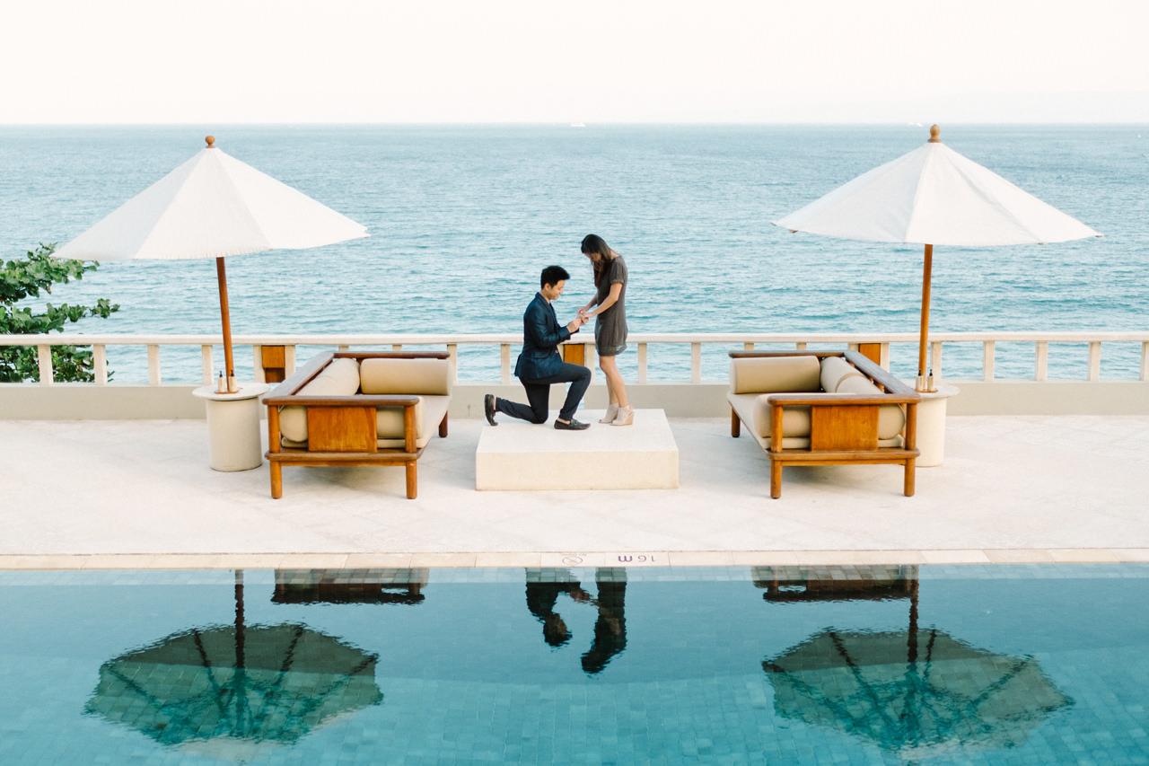 K&R: Romantic Beachside Proposal Photography at Amankila 7