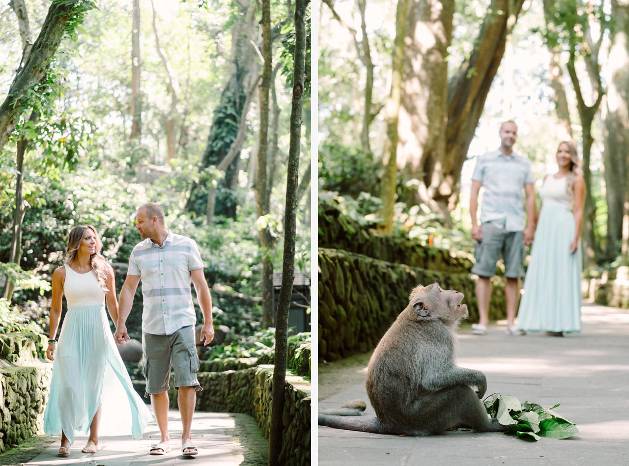 L&C: Adventurous Bali Honeymoon Photo at Monkey Forest 1