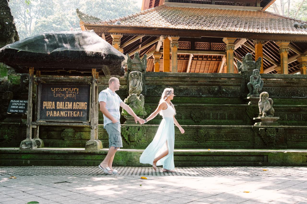 L&C: Adventurous Bali Honeymoon Photo at Monkey Forest 10