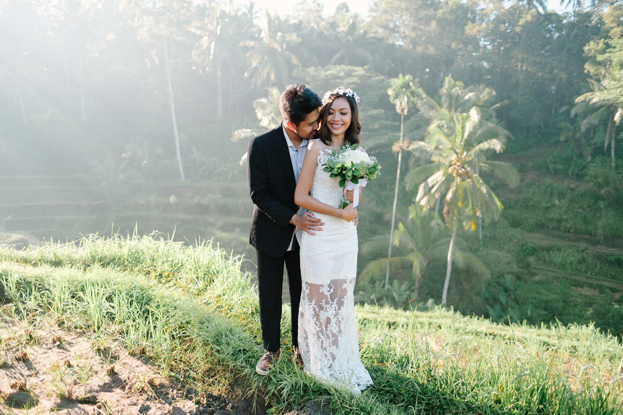 Ledy & Wungsu: Sunrise Prewedding Photography in Ubud Bali 3