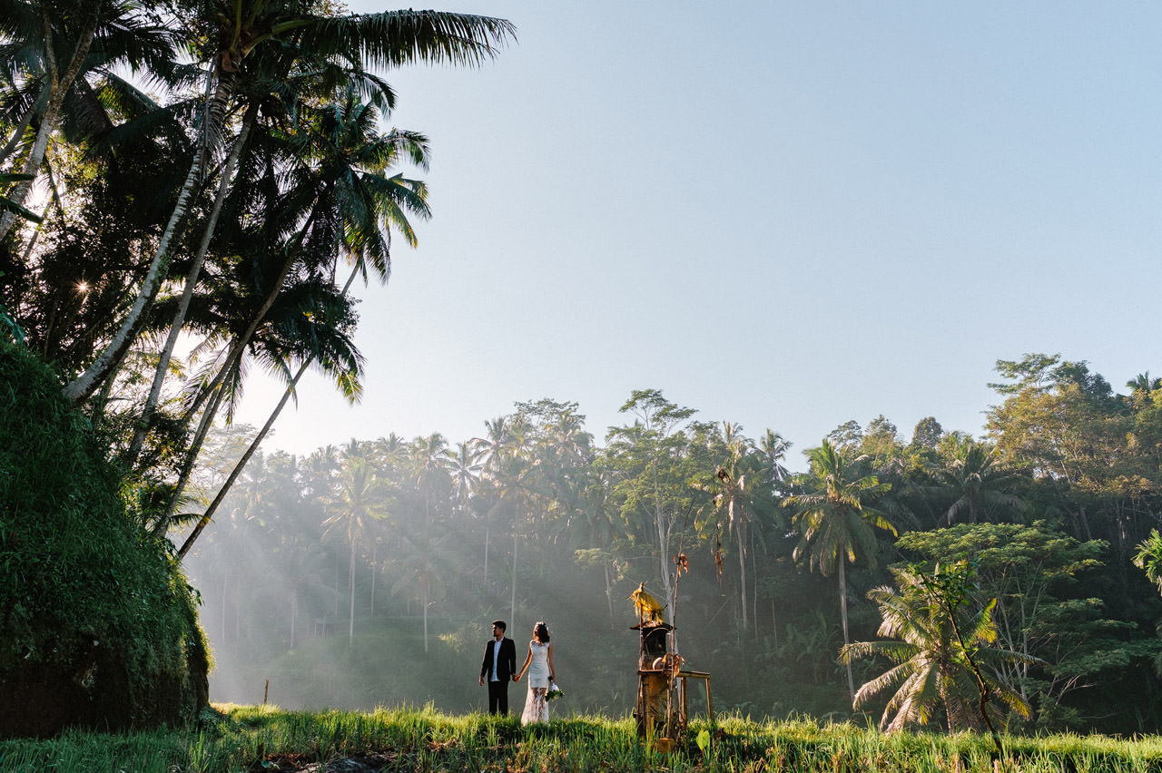 Ledy & Wungsu: Sunrise Prewedding Photography in Ubud Bali 5