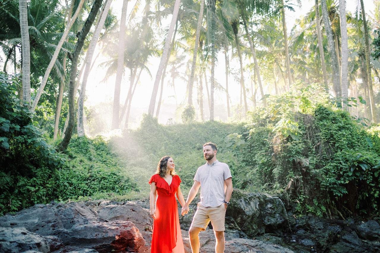 M&B: Stunning Bali Waterfall Engagement Photography 1